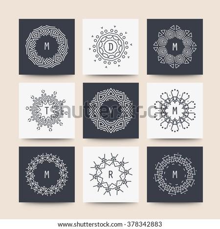 vintage luxury monogram logo template download free vector art
