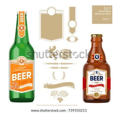 Retro Style Beer Badges and Labels - Download Free Vector Art, Stock ...