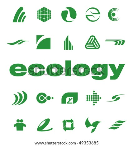 Set of elements for logo design vector - stock vector