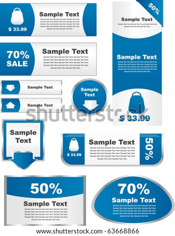 set of elements for sale -vector