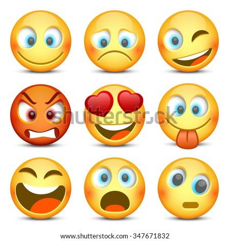 set of emoji vector