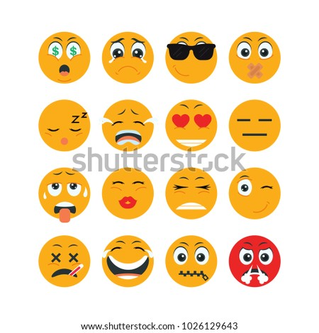 Set Of Emoticon Character