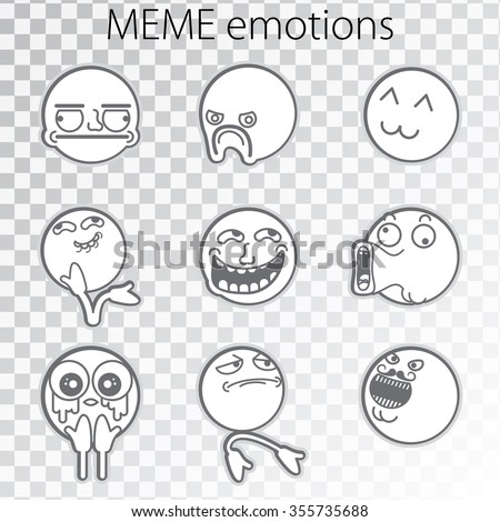 set of emoticon doodles for