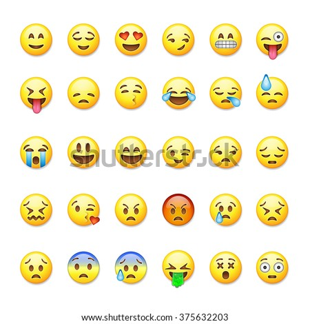 set of emoticons  emoji