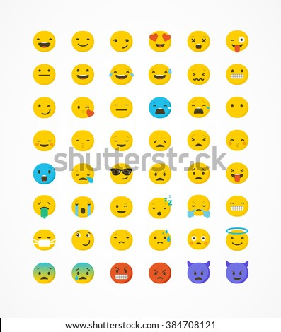 set of emoticons  emoji