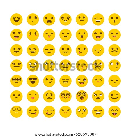 set of emoticons funny cartoon