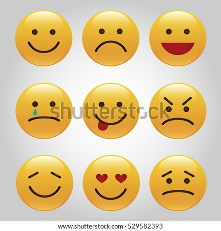 set of emoticons  icon pack