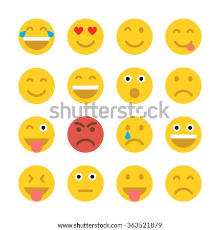 set of emoticons set of emoji