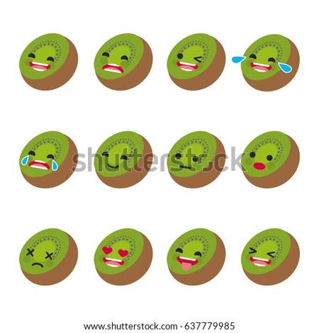 set of emoticons smile emoji