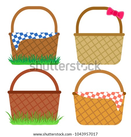 set of empty baskets for easter ...