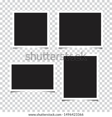 Set of empty photo frames. vector illustration
