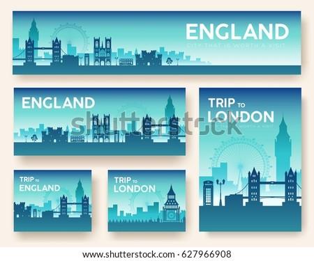 set of england landscape
