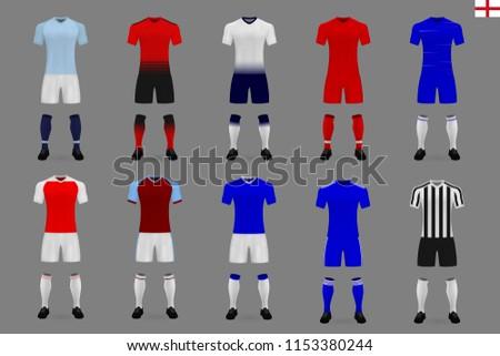 set of english football kit