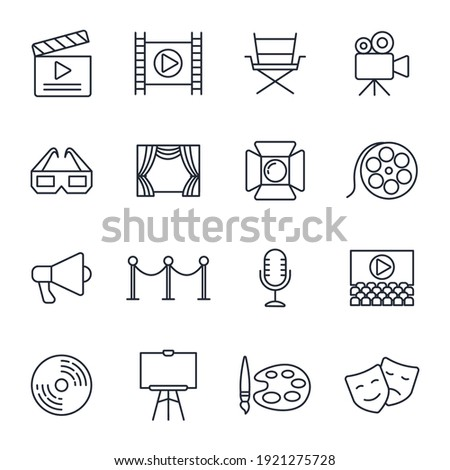 Set of Entertainment icon. Entertainment pack symbol template for graphic and web design collection logo vector illustration Stockfoto ©
