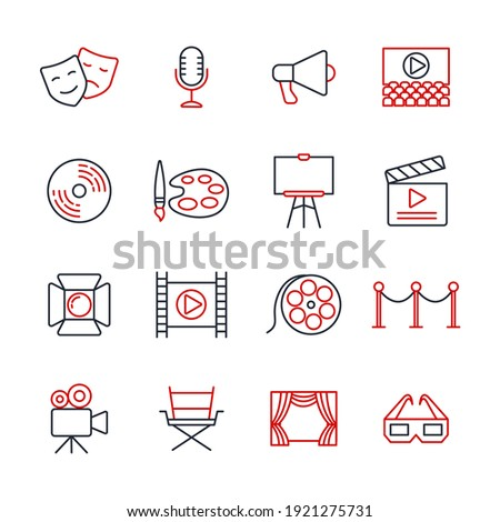 Set of Entertainment icon. Entertainment pack symbol template for graphic and web design collection logo vector illustration Foto stock ©