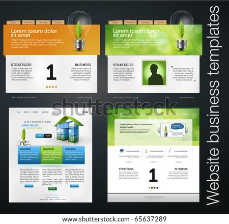 set of environmental clean web business templates
