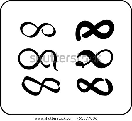Set of eternity signs #761597086