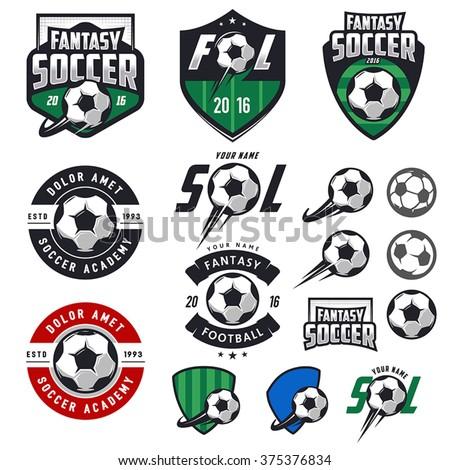 set of european football ...