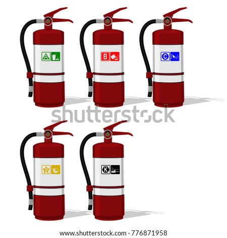 set of extinguisher tank with