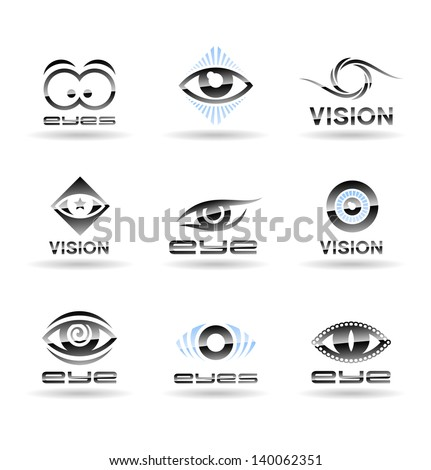 set of eyes icons