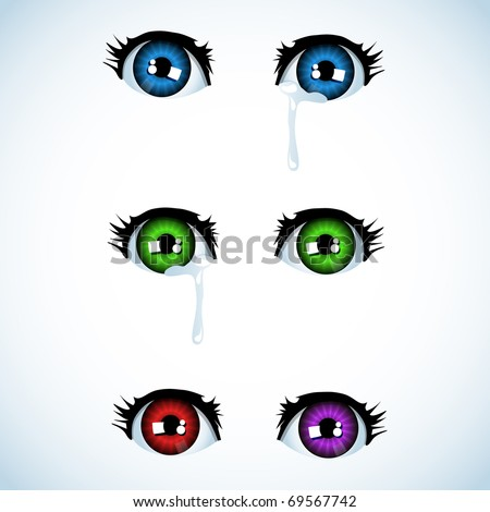 set of eyes in anime style