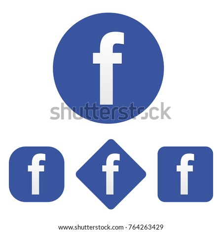 Set of Facebook icon
