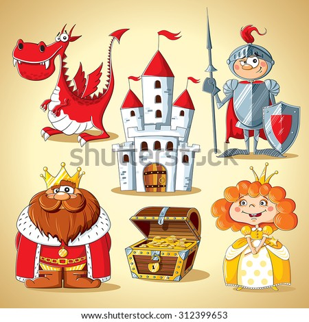 set of fairy tale characters
