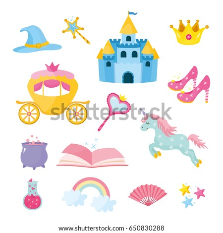 set of fairy tale elements