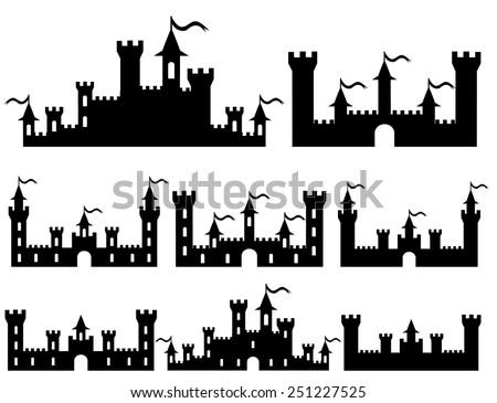 set of fantasy castles