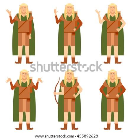 set of fantasy elves