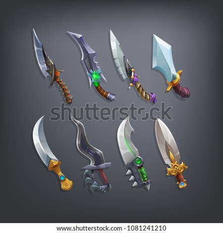 set of fantasy knifes and