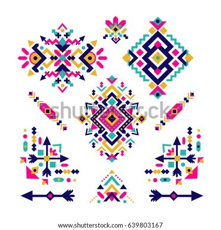 set of fashion mexican  navajo...