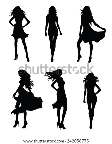 set of fashion models