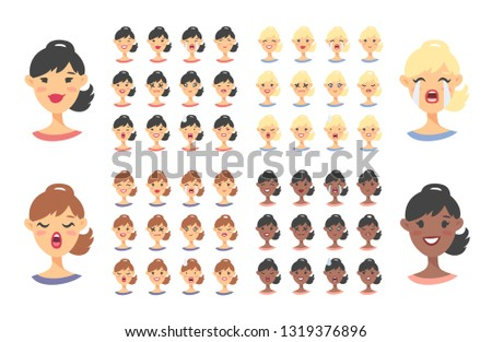Girl with facial and hand expressions - Download Free