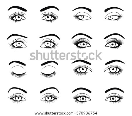 set of female eyes and brows