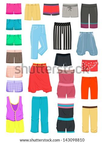 set of female summer shorts