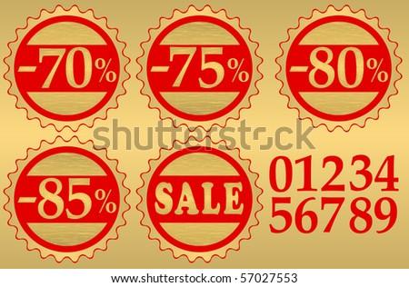 Set of festive sale vector tags