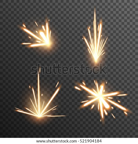 Shutterstock Set of fiery sparks on transparent background. Glow special effect. EPS 10.
