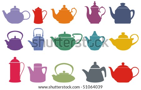 set of fifteen colorful vector