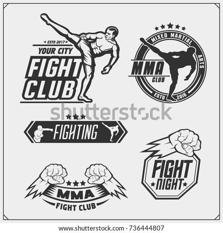 set of fighting club emblems