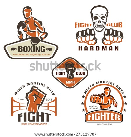 set of fighting club emblems