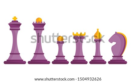 set of figures for chess king