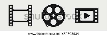set of 3 filled reelicons