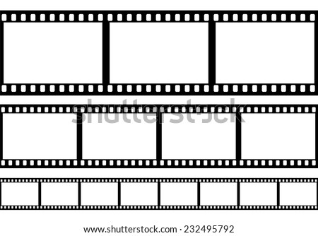 set of film frame  vector