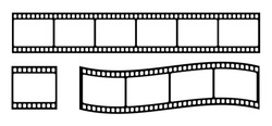 Set of film strip, vector illustration
