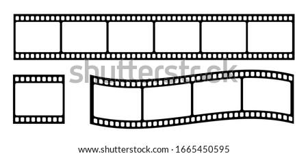 Set of film strip, vector illustration Stockfoto ©