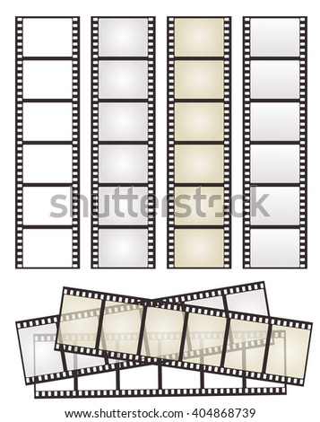 stock-vector-set-of-film-strip-with-variation-on-white