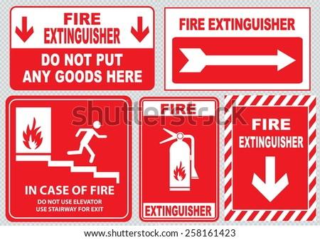 Royalty Free Fire Emergency Signs Emergency Shut