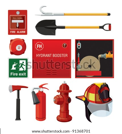 Set of firefighting equipment