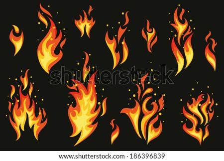 set of fires